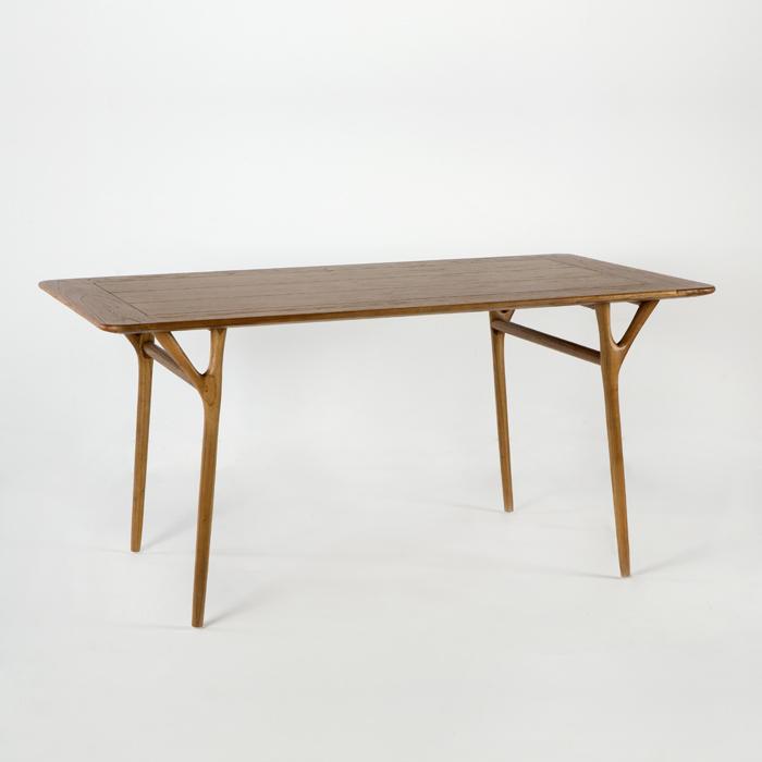 Mesa de comedor en madera natural miwayuu for Mesa comedor rectangular madera