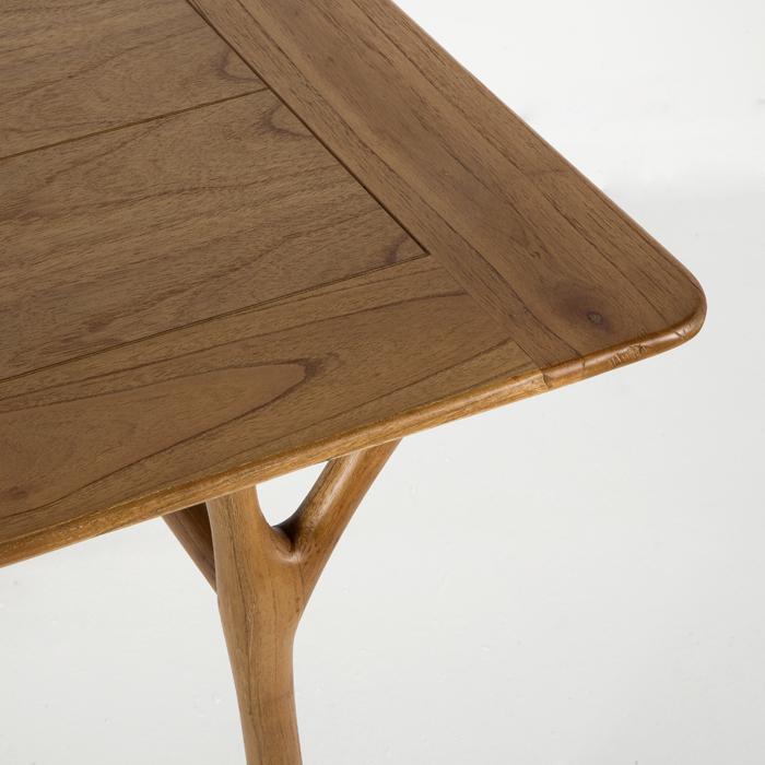 Mesa de comedor en madera natural miwayuu - Mesa comedor madera ...