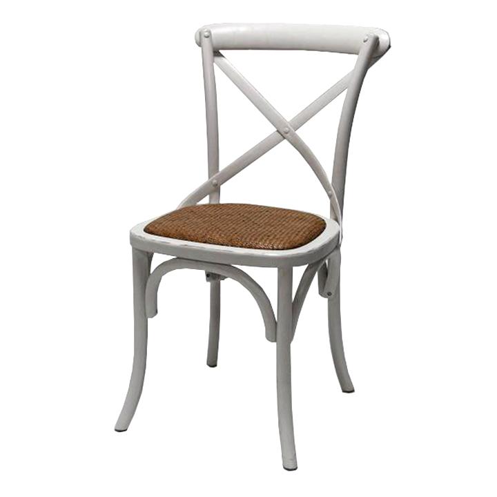 silla de madera cruceta blanca miwayuu