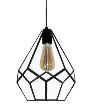 Lámpara estilo vintage con jaula