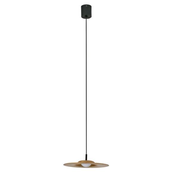 Lámpara de techo estilo nórdico fabricada en aluminio y latón.