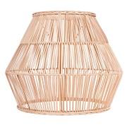 Pantalla para lámpara fabricada en rattan