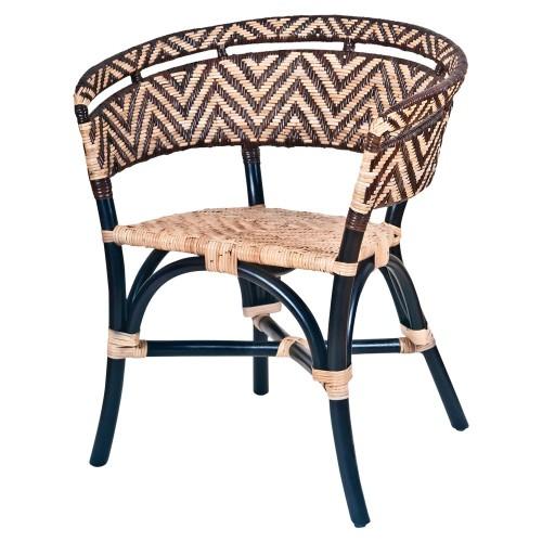 Silla estilo Bistró con estructura fabricada en bambú