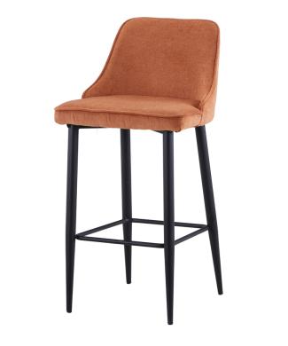 misterwils-taburete-alto-estilo-contemporaneo-acero-tapizado-textil-alobasy-naranja-1