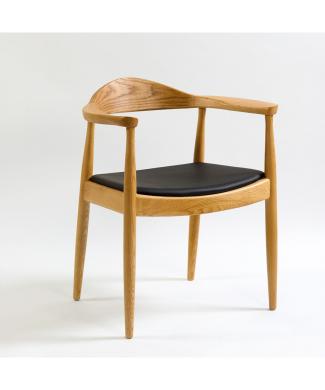 sillon-natural-asiento-negro